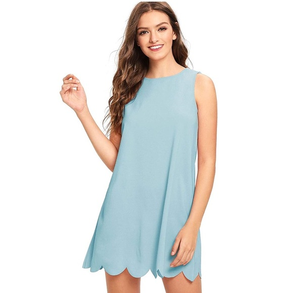 ec8f4342499 Light blue dress. NWT. ROMWE